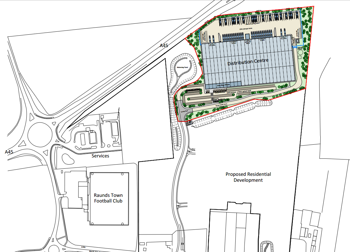 New Raunds Distribution Centre Refused for Planning Permission