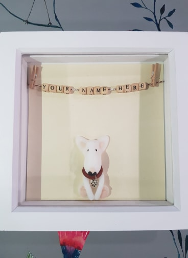 English Bull Terrier - Personalised Memory Frame