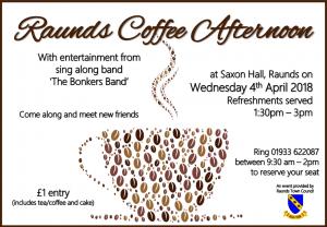 Raunds Coffee Afternoon @ Saxon Hall   Raunds   United Kingdom