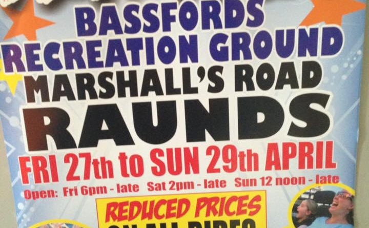 Raunds Fun Fair 27th – 29th April