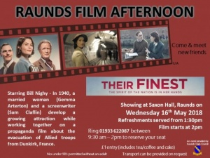 Raunds Film Afternoon - Their Finest @ Saxon Hall | Raunds | United Kingdom