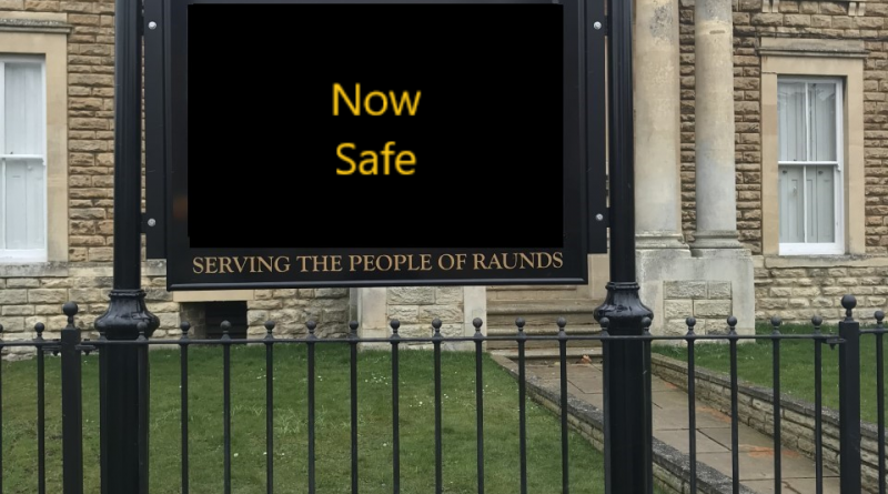 Raunds Sign Safety Update