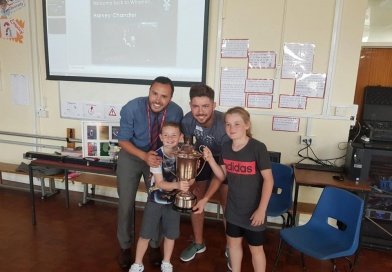 European Snooker Champion Visits His Old School