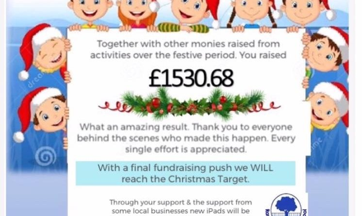 Raunds Park Infant School Raises Over £1530 Across Festive Period
