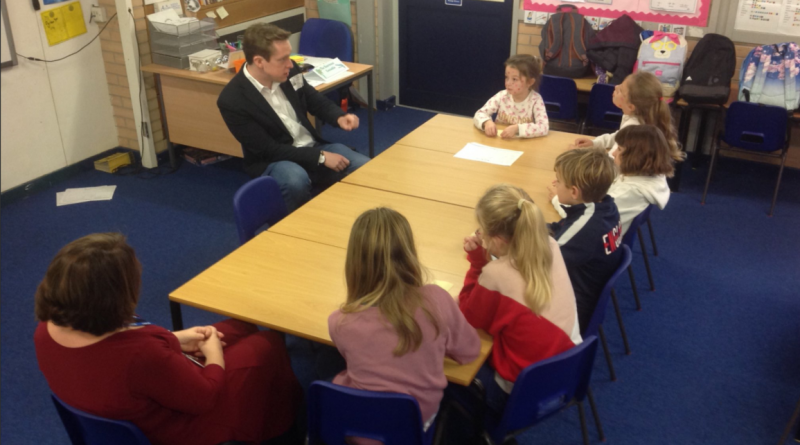Tom Pursglove MP meets pupils at St Peter's C.E. Academy
