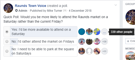 Raunds to Get Saturday Market Trial