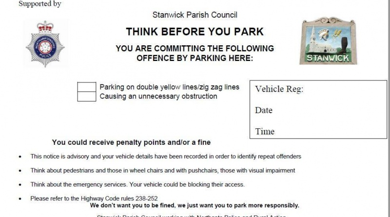 Revised Parking Advice Notice Could be Issued by Schools in Raunds